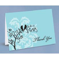 10598 Perched Birds Thank You Cards