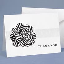 20625 Zebra Stripe Flower Thank You Cards