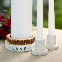 33324 Rustic Love Unity Candle Holder