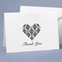 20656 Damask Heart Thank You Cards