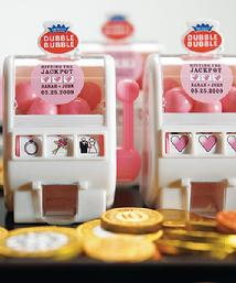 8558-Mini Wedding Theme Slot Machine Favour