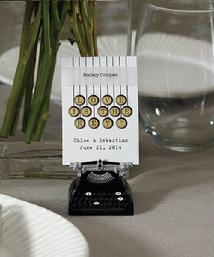 9137 Vintage Typewriter Place Card Holder